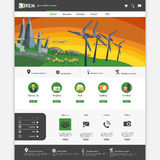Green eco website Royalty Free Stock Photo