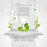 Green eco website template Stock Image
