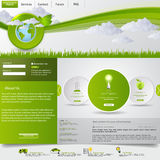 Green eco website template Stock Photography