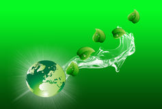 Green Eco World and Nature. Green Eco World and Natural Life Royalty Free Stock Photo