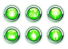 Green ecologe icons Stock Image
