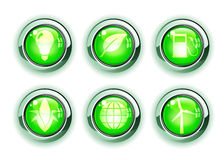 Green ecologe icons royalty free illustration