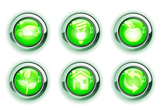 Green ecologe icons vector illustration
