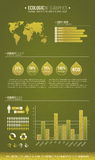 Green ecologic infographic Stock Photo