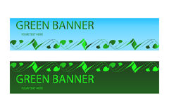 Green ecological banner with green elements Stock Image