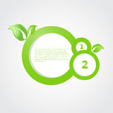 Green ecological banner with green leaves. And place for your text Royalty Free Stock Photography