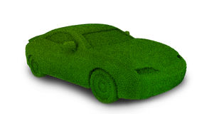 Green ecological car Royalty Free Stock Photo