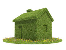 Green ecological house. Isolated white Royalty Free Stock Photo