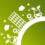 Green ecological illustration Royalty Free Stock Image