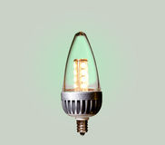 Green ecological LED bulb with path Royalty Free Stock Images