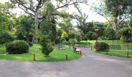 Green ecological park in Buenos Aires. Japanese garden. Stock Image