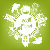 Green ecological planet Stock Image