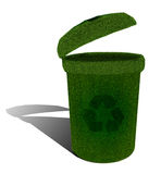 Green ecological recycle bin Stock Images