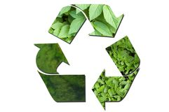 Green ecological recycle sign Royalty Free Stock Images