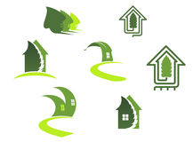 Green ecological symbols Royalty Free Stock Photo
