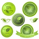 Green ecological tags Royalty Free Stock Images