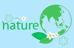 Green ecology background Royalty Free Stock Image