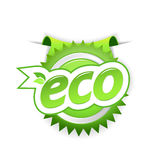 Green ecology badge. Royalty Free Stock Photos