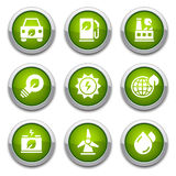 Green ecology buttons Stock Images