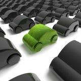 Green ecology car Royalty Free Stock Image