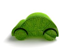 Green ecology car royalty free illustration
