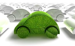 Green ecology car Royalty Free Stock Image