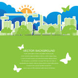 Green ecology city Concept Stock Images