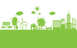 Green ecology City environmentally friendly . Stock Photo