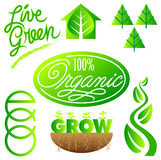 Green Ecology Clip Art Set/eps Royalty Free Stock Photography