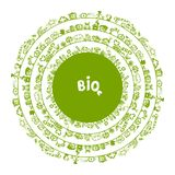 Green ecology concept, circle frame for your Stock Photo