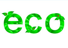 Green Ecology Concept. Vector. Royalty Free Stock Photography