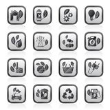 Green, Ecology and environment icons. Vector icon set Royalty Free Stock Photography