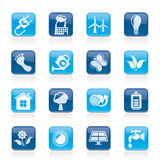 Green, Ecology and environment icons Royalty Free Stock Photo