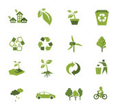 Green Ecology icon Royalty Free Stock Image