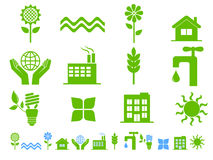 Green ecology icons Royalty Free Stock Photography