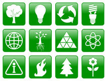 Green ecology icons vector illustration