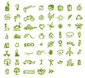 Green ecology icons for your design Royalty Free Stock Photography