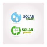 Green - Ecology - Power icon set Royalty Free Stock Photos