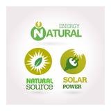 Green - Ecology - Power icon set Stock Photos
