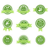 Green Ecology retro badge Royalty Free Stock Photography