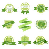 Green Ecology retro label. This image is a vector illustration.Green Ecology retro badge Stock Photography