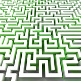 Green ecology right pathway inside labyrinth Royalty Free Stock Photos