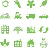 Green ecology symbols Royalty Free Stock Photo