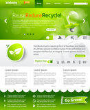 Green ecology web template layout Royalty Free Stock Photography