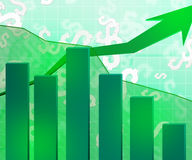 Green Economic Background. Image Business Stock Image