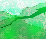 Green Economic Background. Euro Green Economic Background Image Royalty Free Stock Photography