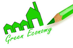 Green economy and  industry Royalty Free Stock Images