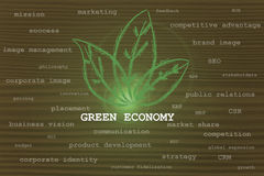 Green economy taking over other business concepts Royalty Free Stock Photography
