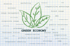 Green economy taking over other business concepts Stock Images