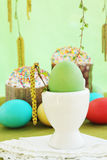 Egg in base Royalty Free Stock Photo